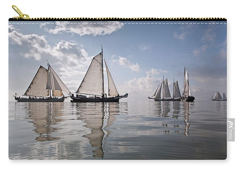 North Holland Carry-all Pouch featuring the photograph Netherlands, Race Of Traditional by Frans Lemmens