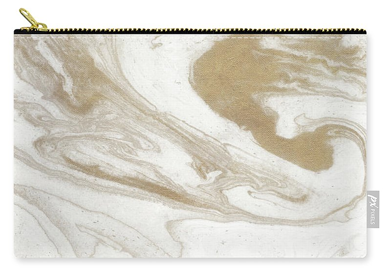 Neutral Carry-all Pouch featuring the painting Neutral Marble by Susan Bryant