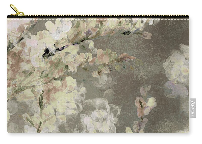 Neutral Carry-all Pouch featuring the painting Neutral Sakura Beauty by Lanie Loreth