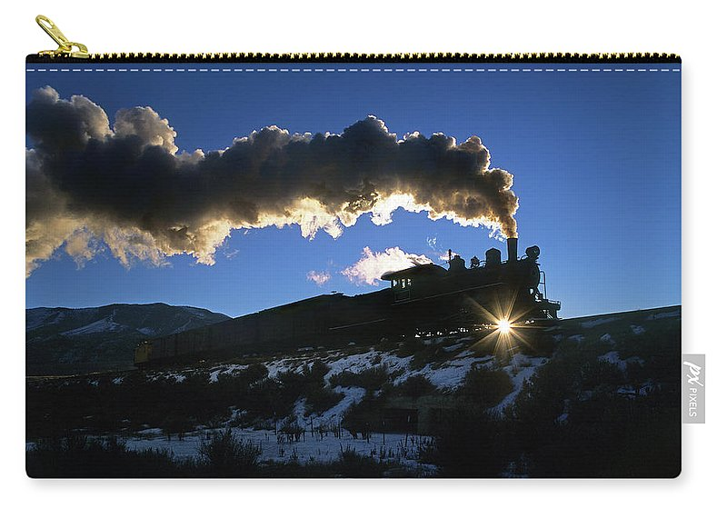 Freight Transportation Carry-all Pouch featuring the photograph Nevada Sunrise by Mike Danneman