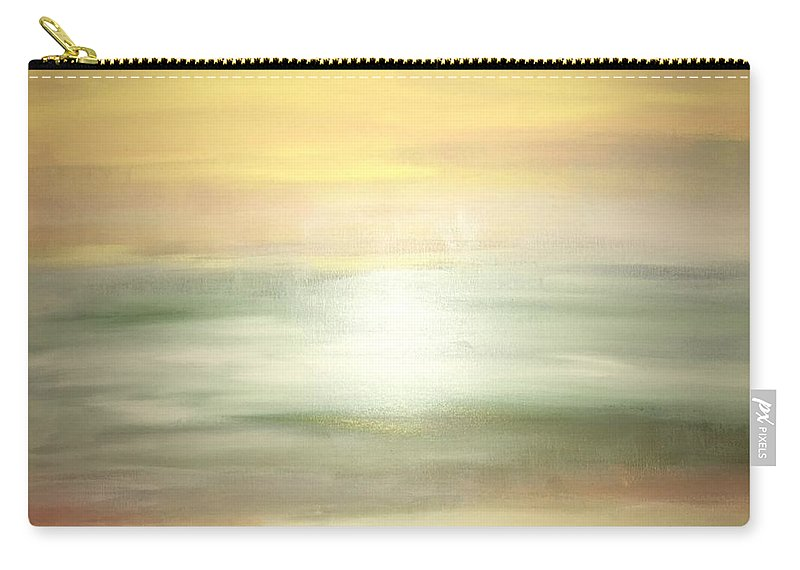 Yellow Carry-all Pouch featuring the painting New Horizons 2b by Robin Gill