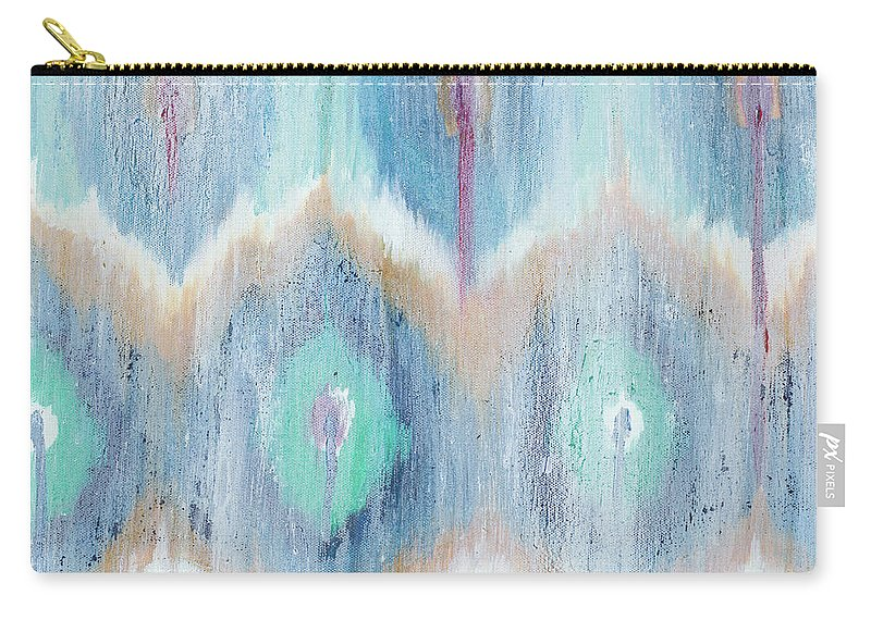New Carry-all Pouch featuring the painting New Ikat II by Patricia Pinto