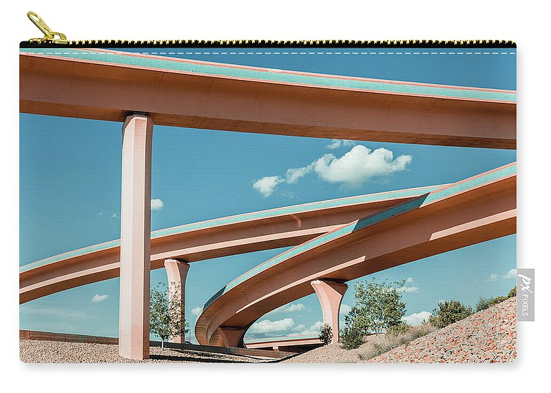 Autobahn Carry-all Pouch featuring the photograph New Mexico Albuquerque Interstate by Mlenny