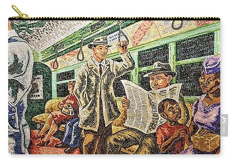 Sailor Carry-all Pouch featuring the photograph New Yorkers by Rob Hans
