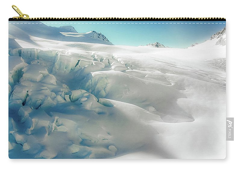 Cold Temperature Carry-all Pouch featuring the photograph New Zealand - Dreamy Glacier Landscape by Agnieszka Bachfischer