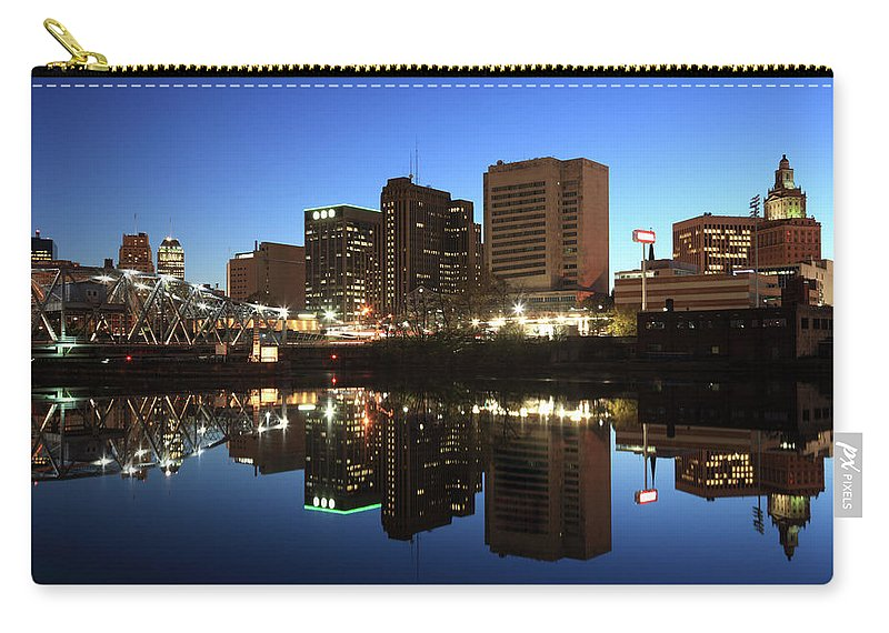 Clear Sky Carry-all Pouch featuring the photograph Newark, New Jersey by Jumper