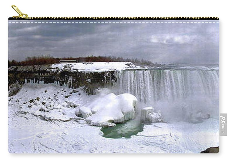 Niagara Carry-all Pouch featuring the photograph Niagara Falls Late Winter by Rick Mcclelland