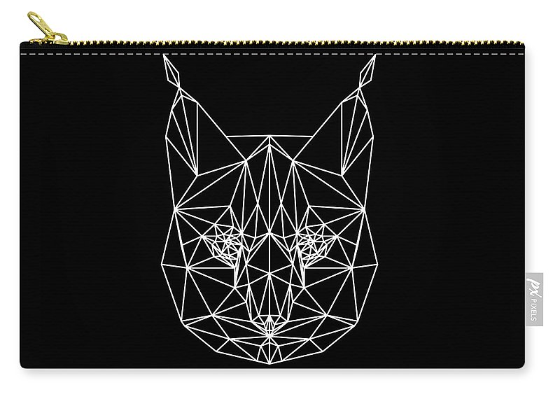 Bobcat Carry-all Pouch featuring the digital art Night Bobcat by Naxart Studio