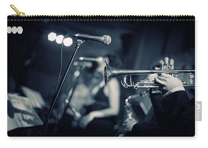 Singer Carry-all Pouch featuring the photograph Night Club by Tunart