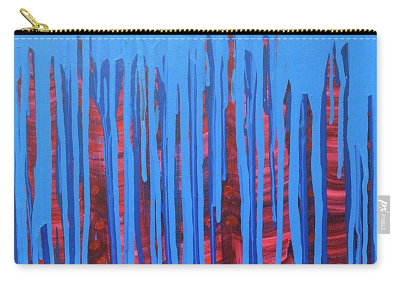 Abstract Carry-all Pouch featuring the painting Night Life by Janice King
