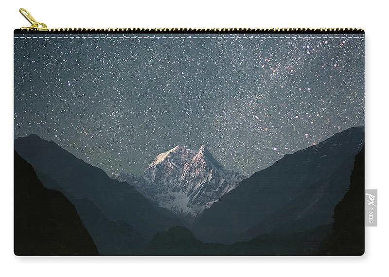 Himalayas Carry-all Pouch featuring the photograph Nilgiri South 6839 M by Anton Jankovoy