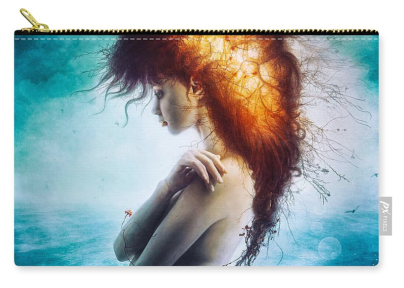 Nirvana Carry-all Pouch featuring the digital art Nirvana by Mario Sanchez Nevado