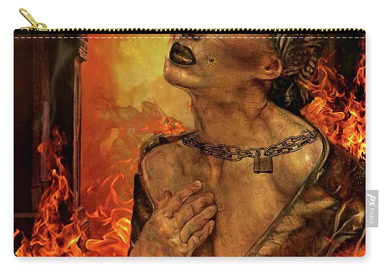 Ghost Carry-all Pouch featuring the mixed media No Escape by G Berry