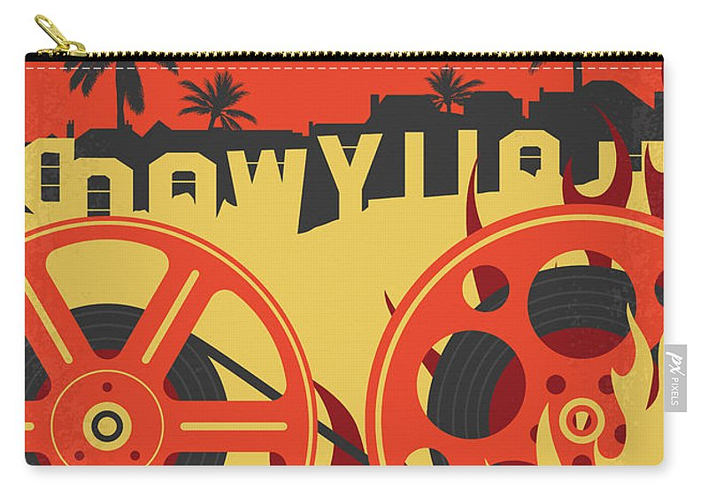 Once Carry-all Pouch featuring the digital art No1120 My Once Upon A Time In Hollywood Minimal Movie Poster by Chungkong Art