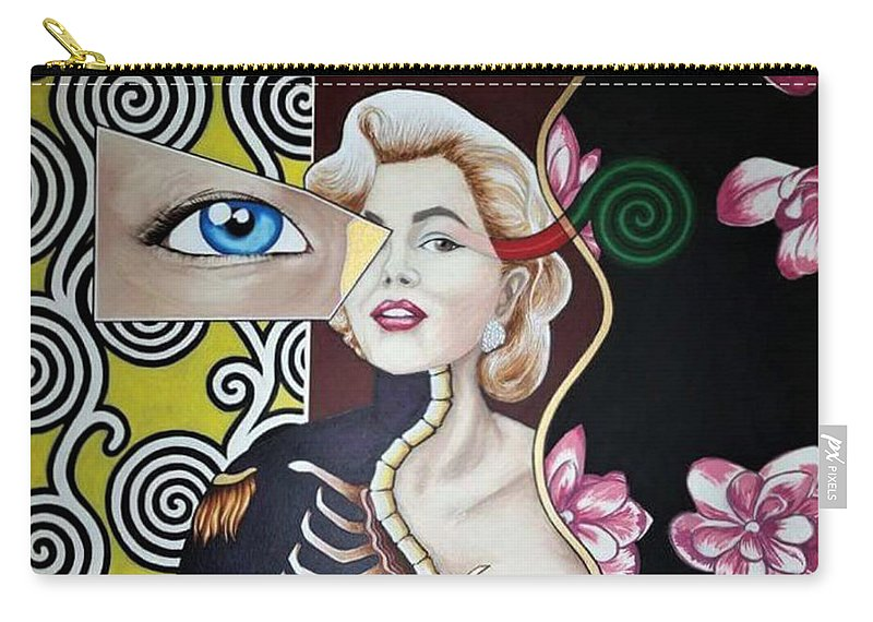 Figure Carry-all Pouch featuring the painting Norma Dream by Bryon Stewart