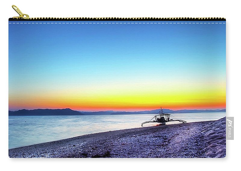 Water's Edge Carry-all Pouch featuring the photograph North Cay Island, Palawan, Philippines by Tomasito!