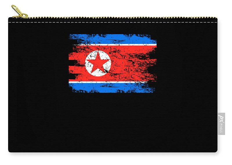 Patriotic Carry-all Pouch featuring the digital art North Korea Shirt Gift Country Flag Patriotic Travel Asia Light by J P