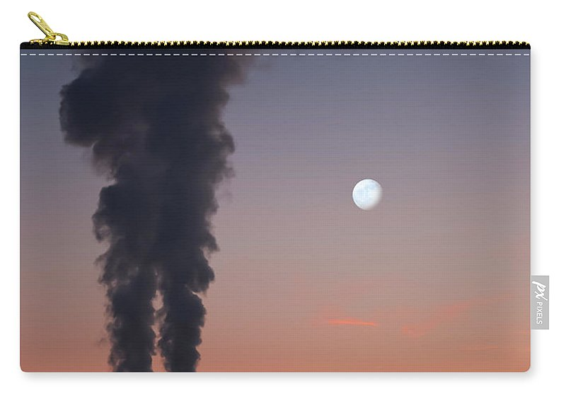Air Pollution Carry-all Pouch featuring the photograph Nuclear Power Station In Bavaria by Michael Kohaupt