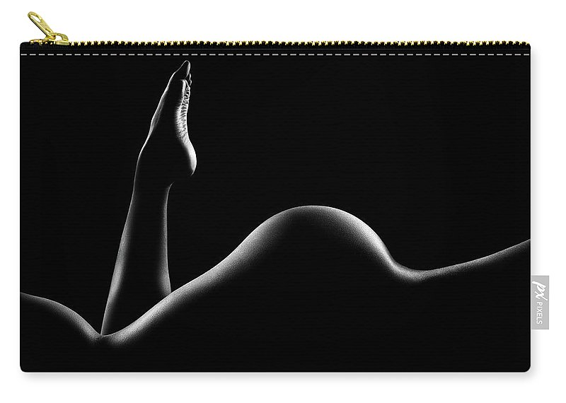 Woman Carry-all Pouch featuring the photograph Nude woman bodyscape 14 by Johan Swanepoel