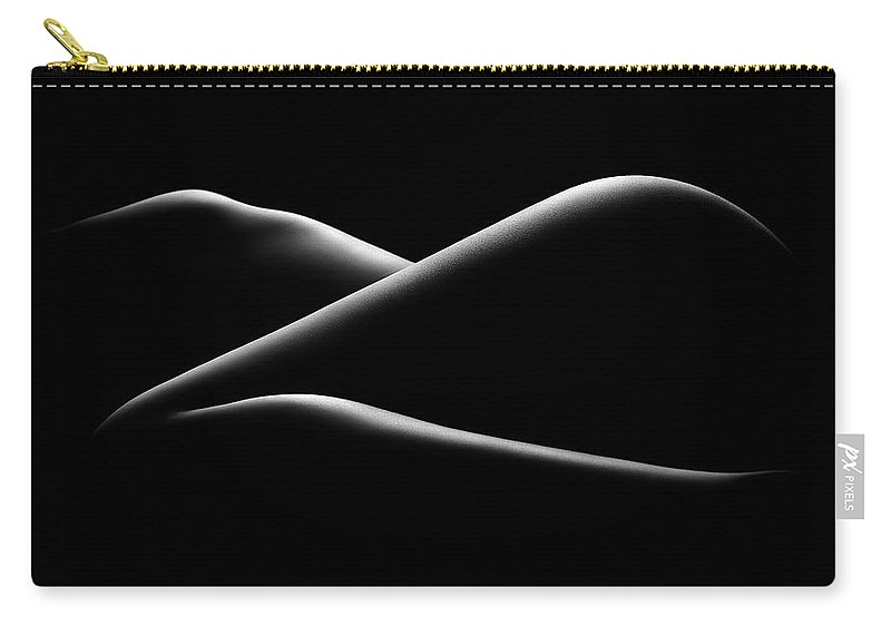Woman Carry-all Pouch featuring the photograph Nude Woman Bodyscape 17 by Johan Swanepoel
