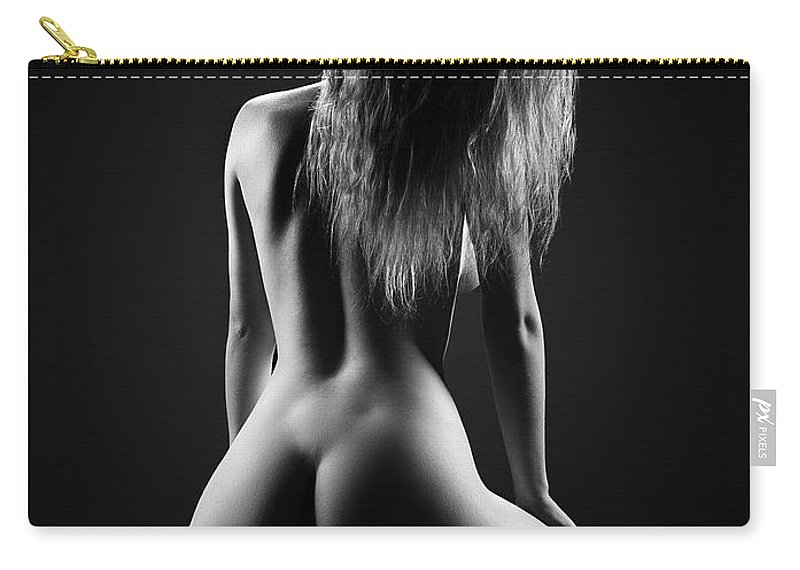 Woman Carry-all Pouch featuring the photograph Nude woman bodyscape 32 by Johan Swanepoel