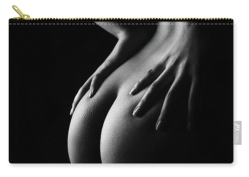 Woman Carry-all Pouch featuring the photograph Nude woman bodyscape 39 by Johan Swanepoel