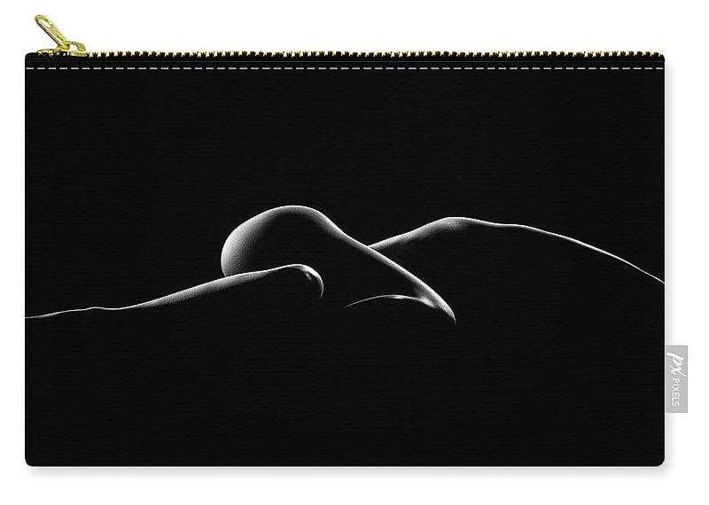 Woman Carry-all Pouch featuring the photograph Nude Woman Bodyscape 7 by Johan Swanepoel