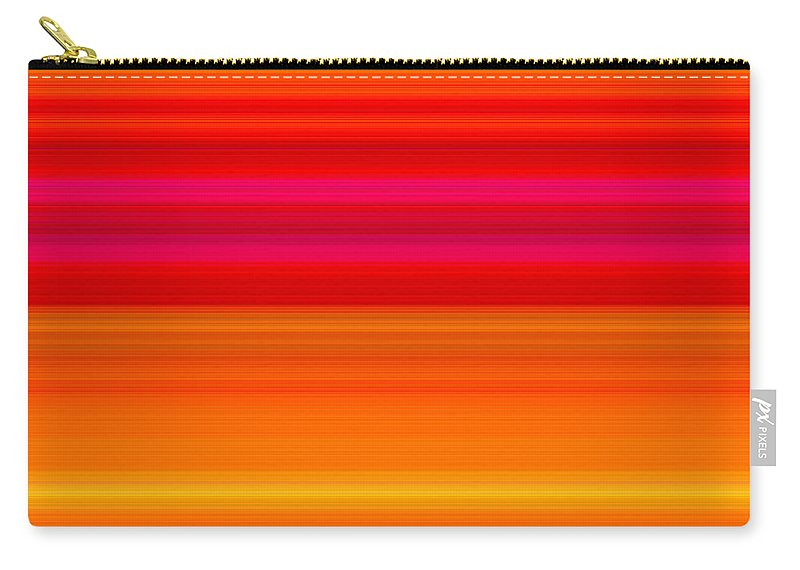 Stripes Carry-all Pouch featuring the digital art Number Forty Eight, 2017 by Alex Caminker