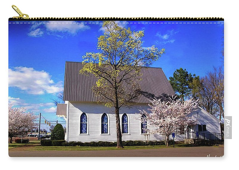 Country Church Carry-all Pouch featuring the photograph Oakland White Church by Hayes Laughlin
