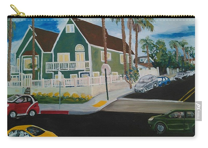 Painting Carry-all Pouch featuring the painting OB House by Andrew Johnson