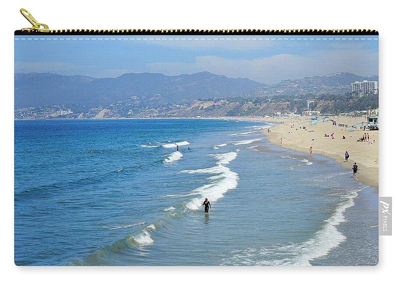 Ocean Carry-all Pouch featuring the digital art Ocean Beauty by Barkley Simpson
