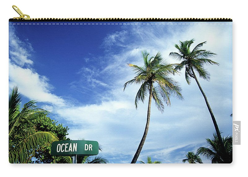 Outdoors Carry-all Pouch featuring the photograph Ocean Drive, South Beach, Miami by Hisham Ibrahim