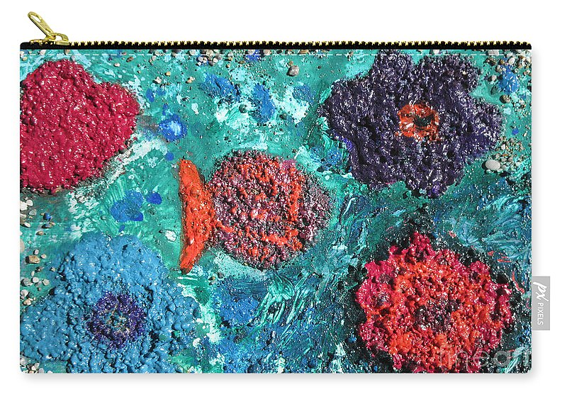 Ocean Emotion Carry-all Pouch featuring the painting Ocean Emotion - Pintoresco Art By Sylvia by Sylvia Pintoresco