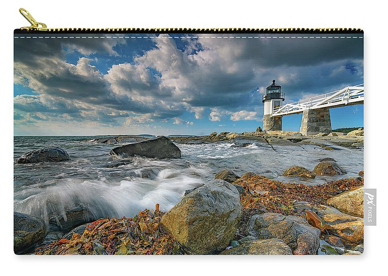 Marshall Point Lighthhouse Carry-all Pouch featuring the photograph October Morning At Marshall Point by Rick Berk