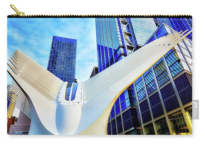 Oculus Carry-all Pouch featuring the photograph Oculus Nyc by Timothy Smith