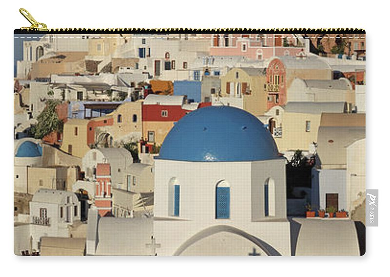 Tranquility Carry-all Pouch featuring the photograph Oia Architecture by Sandra Kreuzinger