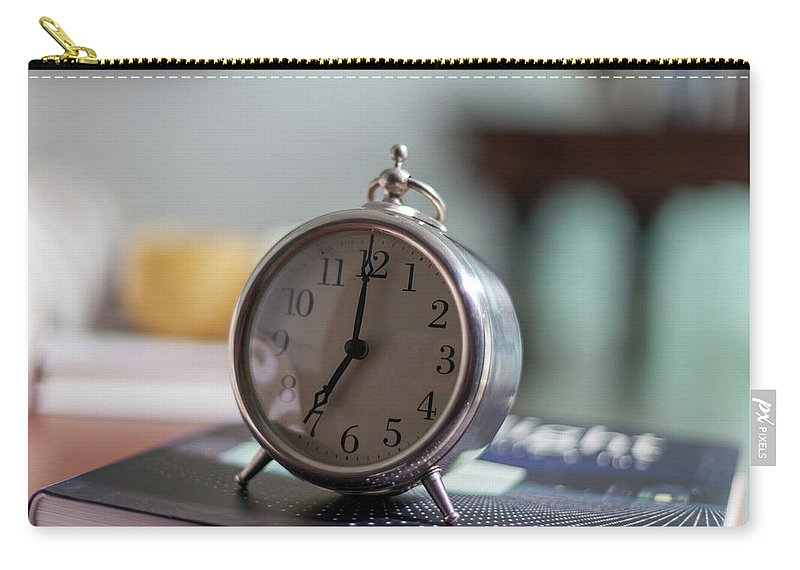Madrid Carry-all Pouch featuring the photograph Old Alarm Clock by Julio Lopez Saguar