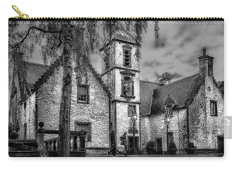 Scotland Carry-all Pouch featuring the photograph Old Cafe 4500 by Karen Celella