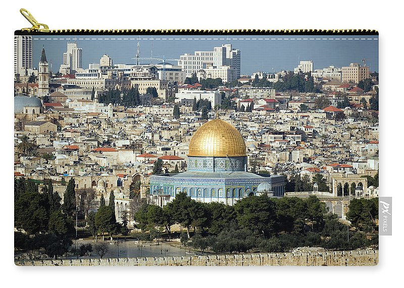 Scenics Carry-all Pouch featuring the photograph Old City Of Jerusalem by Claudiad