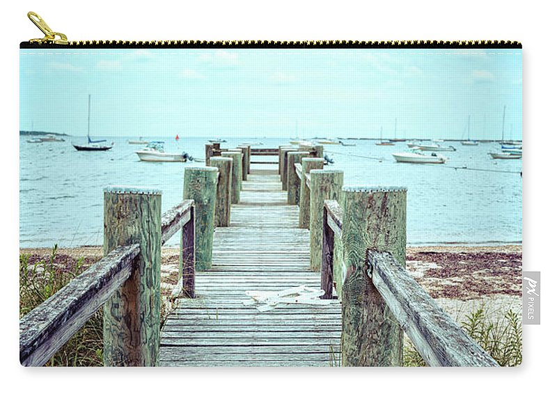 Dock Carry-all Pouch featuring the photograph Old Dock Hyannis Port Cape Cod Ma by Edward Fielding