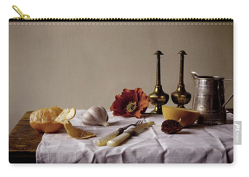 Orange Carry-all Pouch featuring the photograph Old Kitchen Still Life by Pch