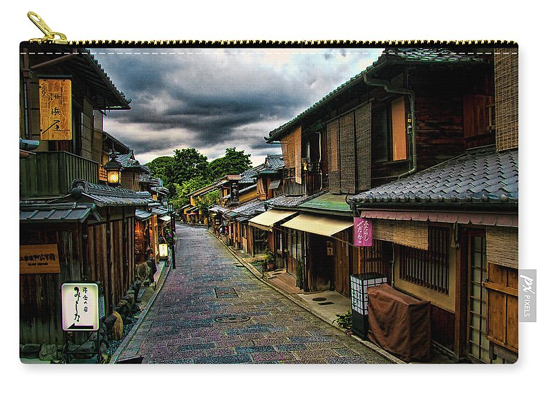 Tranquility Carry-all Pouch featuring the photograph Old Kyoto by Copyright Artem Vorobiev