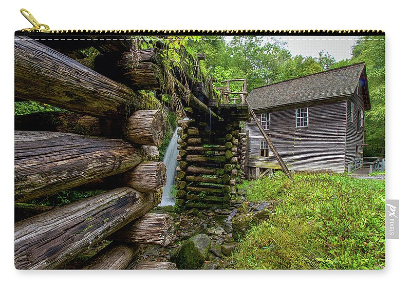 Mingus Mill Carry-all Pouch featuring the photograph Old Mingus Mill by Robert J Wagner