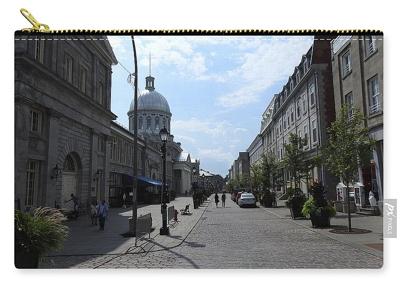 Carry-all Pouch featuring the photograph Old Montreal Market by David Gorman