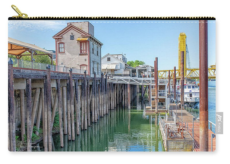 Old Town Sacramento Carry-all Pouch featuring the photograph Old Sacramento Waterfront by Jim Thompson