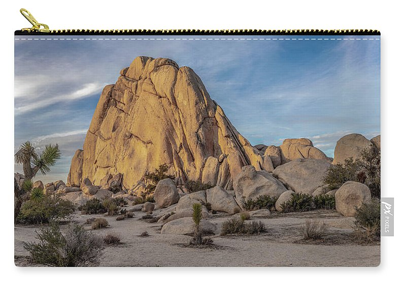 Blue Sky Carry-all Pouch featuring the photograph Old Woman Rock by Peter Tellone