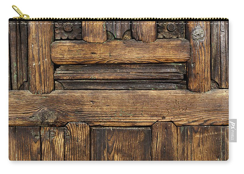 Arch Carry-all Pouch featuring the photograph Old Wooden Door by Logosstock