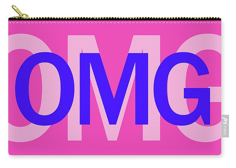 Omg Carry-all Pouch featuring the mixed media Omg by Sd Graphics Studio