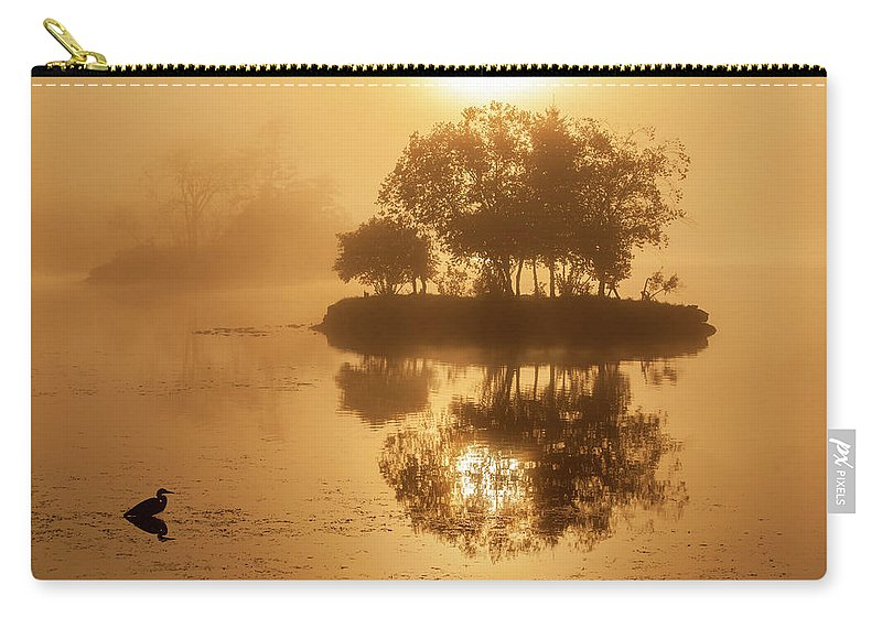 On Golden Pond Carry-all Pouch featuring the photograph On Golden Pond Sunrise Lake Winnipesaukee by Trevor Slauenwhite