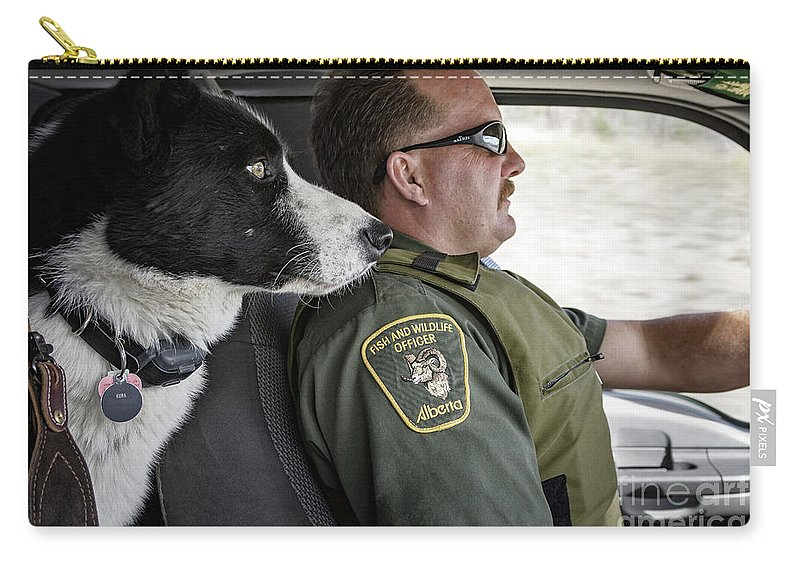 Allenfoto Carry-all Pouch featuring the photograph On Patrol by Brad Allen Fine Art